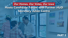 Julián Castro on affordable housing--Iowa Event--Lindsey Ellickson