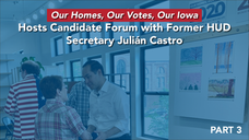 Julián Castro on affordable housing--Iowa Event--Councilwoman--3