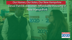 Deval Patrick in New Hampshire Part 1