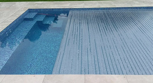 Remco Swimroll Pool Cover in operation