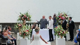 English Bride married at Villa Pizzo Lake Como Wedding - Italy