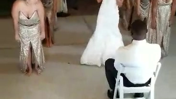 Mrs Moses & Bridesmaids Surprise Dance for Husband