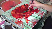 The making of my Poppy painting