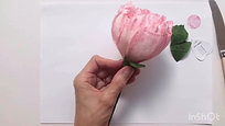 Paper peony - Episode 5 - Finishing the flower
