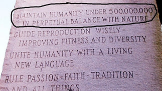 'Georgia Guidestones' GENOCIDE of 7 billion- The Ten Commandments Of The New World Order & Depopulation.