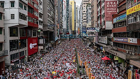 Hong Kong 2 million protesters singing to God fighting for freedom.