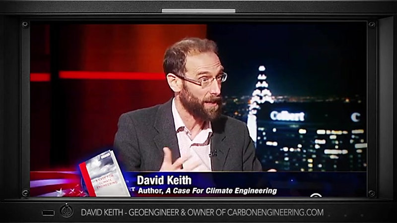 WW3 Genocide is entertaining? Geoengineer David Keith on climate change : the late night show with Stephen Colbert