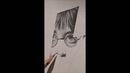 Portrettekening van Harry Potter