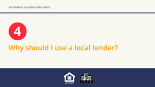Why should I use a local lender?
