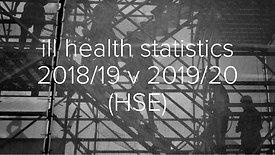 2019 v 2020 ill health statistics HSE