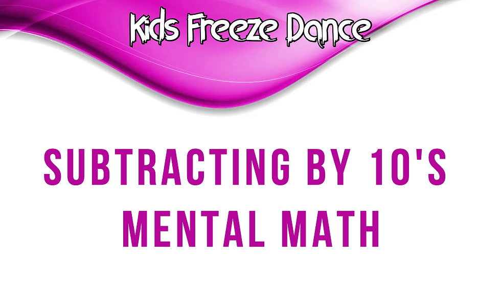 Subtracting by 10's Mental Math