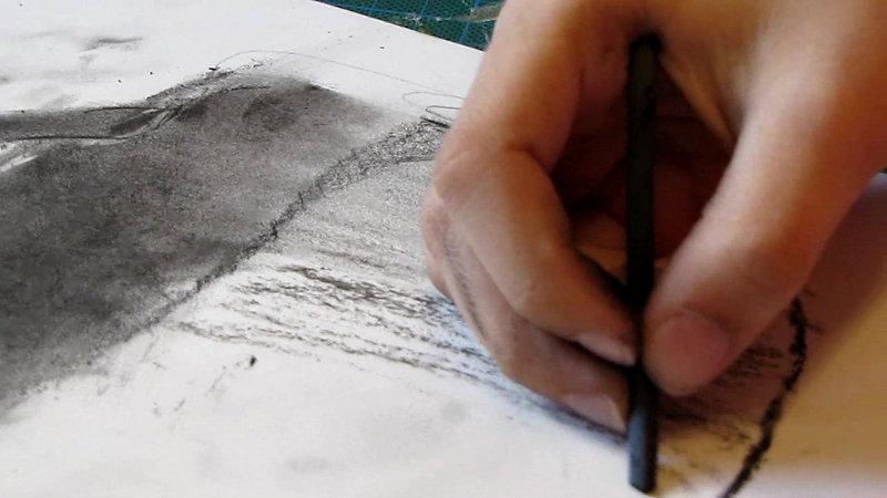 Рисунок углём