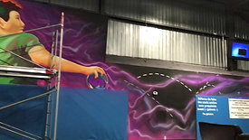 Mural in a trampoline centre  Laval, Montreal, Canada