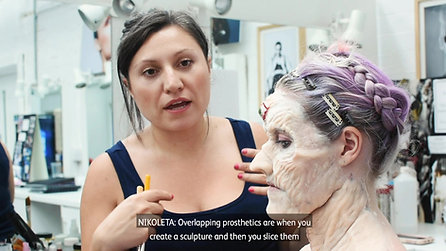 Prosthetic make-up application