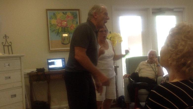 Performing for Grandpa