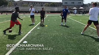 Coach Aaron at Jordan Palmer's QB Summit