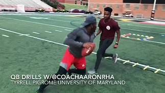 University of Maryland QB Tyrrell Pigrome Private Session with Coach Aaron