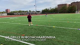 c/o 2024 QB Jonathan Palmer Training with Coach Aaron