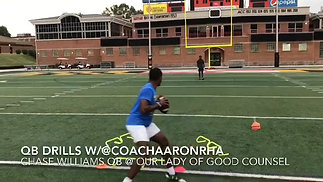 Our Lady of Good Counsel c/o 2022 QB Chase Williams Private QB session with Coach Aaron
