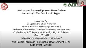 Asia-Pacific Forum on Sustainable Development (APFSD) 2021