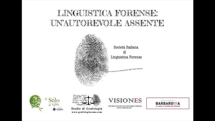 Primo Convegno Società Italiana di Linguistica Forense