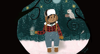 Snowy Day Owl Post