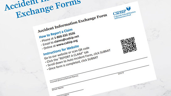 Accident Information Exchange  Pad in Action