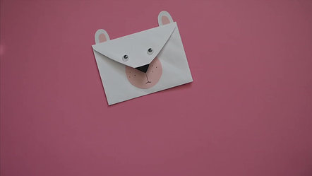 Mini Make Envelope Bernard Bear