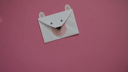 Mini Make Envelope Bernard Bear