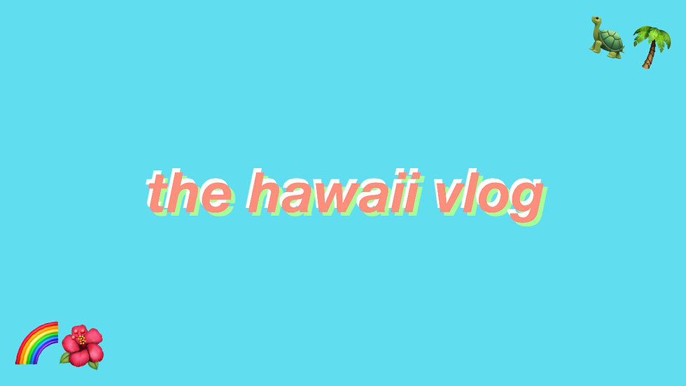 the hawaii vlog