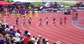 Trinity Rossum National Champion in 100m