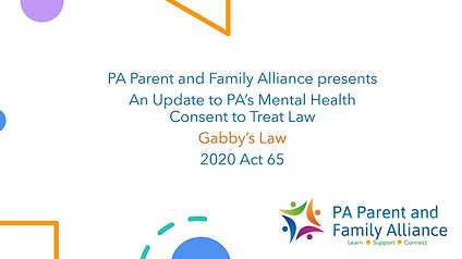 Mental health consent to treat for parents