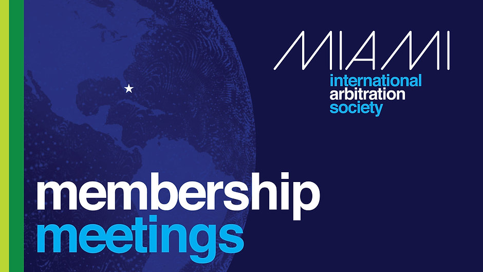 MIAS Membership Meetings