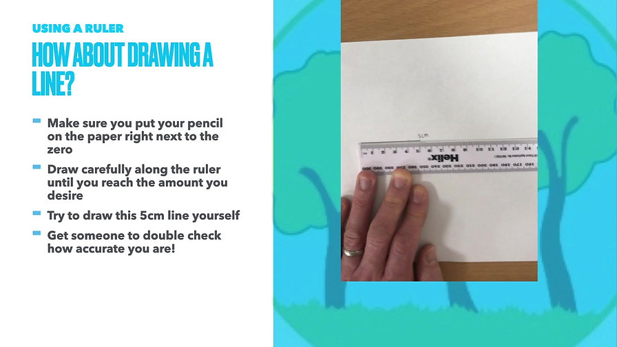 Year 3 Week beginning 25th January - How to use a ruler