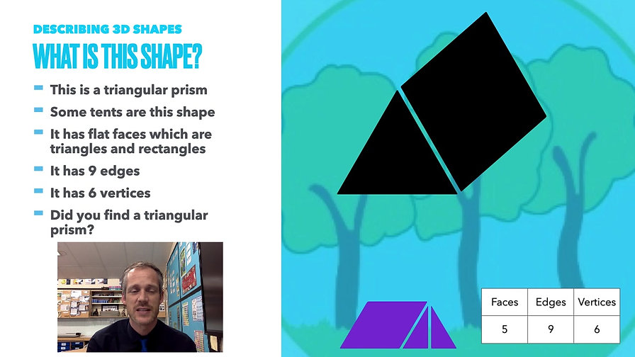 Year 3 Week Beginning 8th March - Describing 3D Shapes