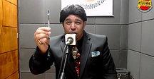 Humorista Marcos Cintra e seu personagem Silvão Santos