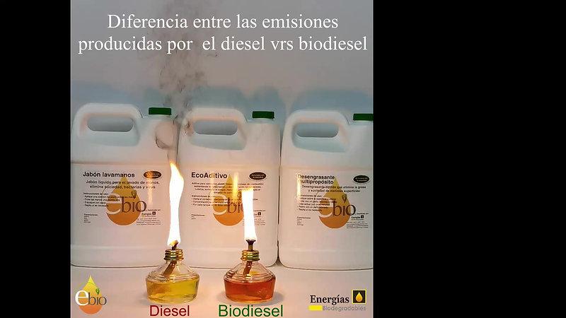 Emisiones diesel vrs biodiesel