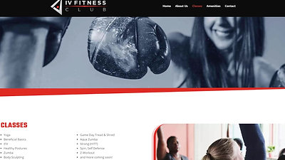 I.V. Fitness Website
