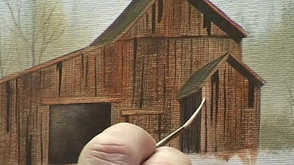 """Pay to View """"Let's Paint an Old Barn"""""""