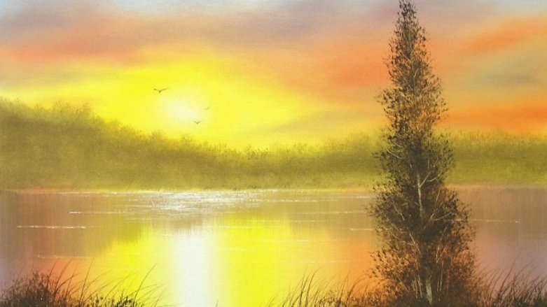 "Featured Lesson: ""Let's Paint a Sunset"""