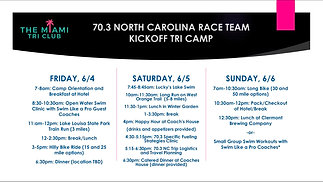 70.3 NC Kickoff Tri Camp Clermont Info Meeting