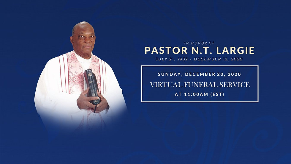 Pastor NT. Largie Funeral Service