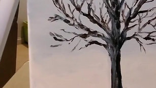 How to Paint a Winter Tree: Part 2