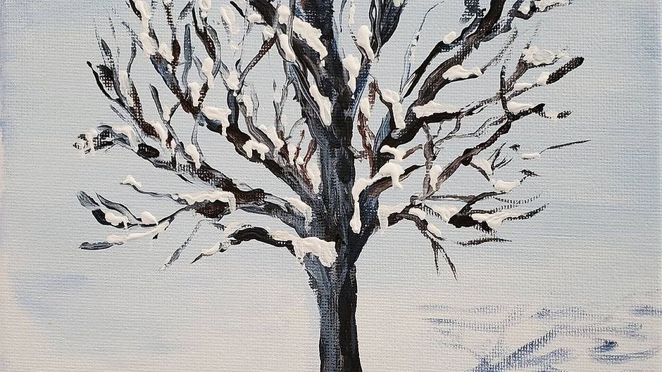How to Paint a Winter Tree
