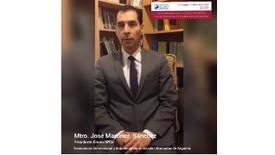 Invitación de Mtro. José Martínez Sánchez