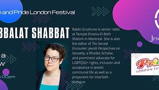 Pride Kabbalat Shabbat--Jewish London & Pride London Festival with Rabbi Lisa Grushcow