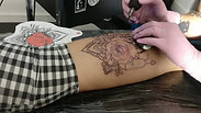 Mandala and realism rose