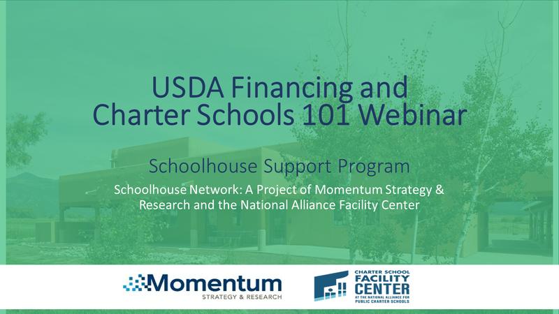 USDA Financing and Charter Schools 101 Webinar
