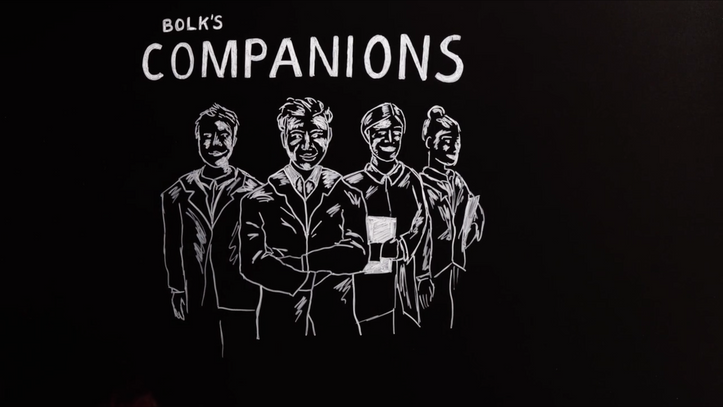 Bolk's Companions Blackboard Animation