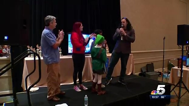 9-year-old PlayStation fan honored at A-Kon 25 (NBC5 news coverage)